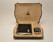Rare 1930s Art Deco Ronson Princess De-Light and Evans Cigarette Case