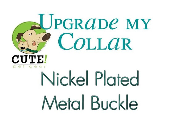 "Nickel Finish Metal Buckle Upgrade for 3/4"" or 1"" Dog Collar"