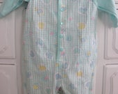 Mint Green / Pastel / Jumper Set / 0-6 Months / Overalls / Coveralls