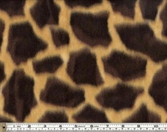 Polar Fleece Giraffe Design Fabric by the yard