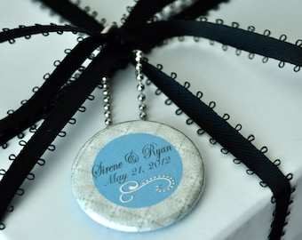 Custom Wedding Gift tag Button Charm - Pinktastik button charms