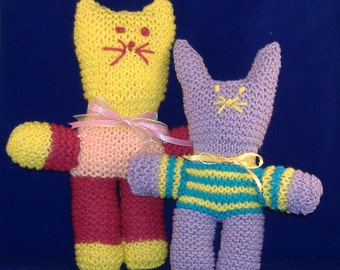 Knitted Bunnies and Kittens - Celebrate Spring all Year Round