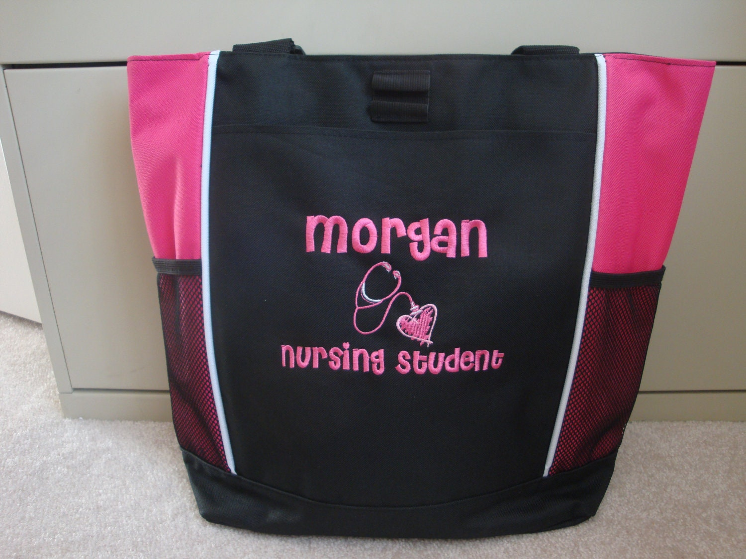 tote bag personalized student rn bsn er lvn by