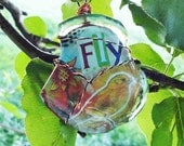 Fly Free Bird Recycled Coca Cola Bottle Necklace