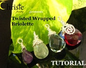 SALE 50% Twisted Wrapped Briolette TUTORIAL