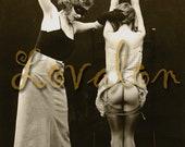 MATURE... Erotic Masquerade... Instant Digital Download... Vintage Erotic Photo by Lovalon