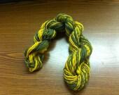 Green and Yellow Mini Hank-Handspun Wool