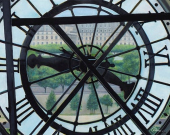 """Two Forty at the Orsay (Paris, France) - Fine Art Print on Canvas, Stretched (21"""" x 27"""" x 1"""")"""