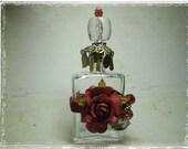 Antique Red Velvet Roses Perfume Bottle