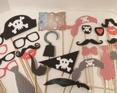 XL 27 Piece Pirate Party Props  Pirate Theme Photo Booth  Pirate Props Wedding Photo Booth  Wedding Photo Props