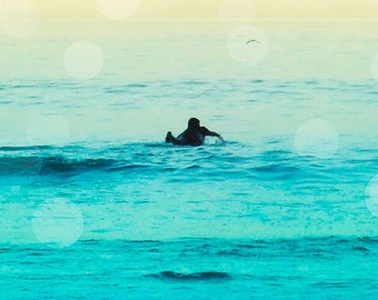 Surfing Wall Art, Retro Surfing Wall Decor, Surfer Photography Beach Wall Art, Teal Beach Wall Art, Retro Surf Art, Boys Room Canvas art
