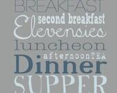 Second Breakfast Quote Art Print