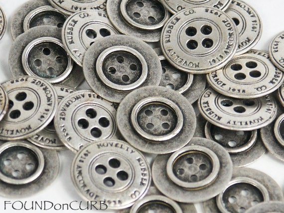 Vintage, Recycled & Reversible Silver Buttons