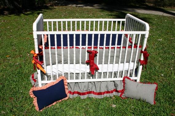 Crib Set for a Divided House-- Alabama & Auburn