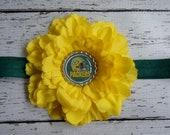 Green Bay Packers Inspired Headband - Packers Headband - Green and Yellow Headband - Toddler Green Bay - Football Headband