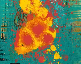 "Koi Fine Art Giclee by Tracey Chikos 11"" x 14"""