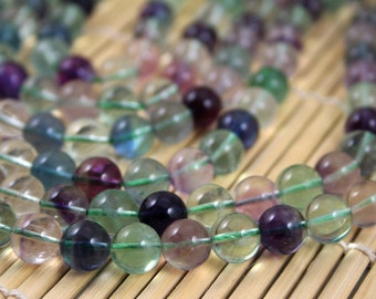 Natural Rainbow Fluorite 10mm Round Beads, 16-Inch Strand G01120