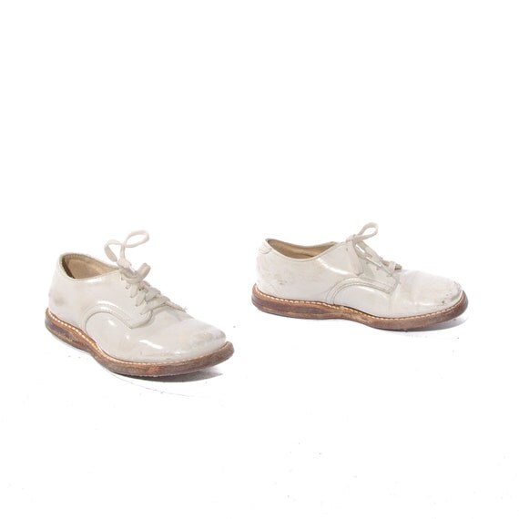 vintage baby oxford shoes white leather shoes toddler