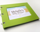 Baby Shower Guest Book - Lime Green
