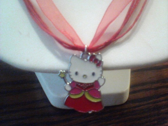 Hello Kitty Princess necklace,  red
