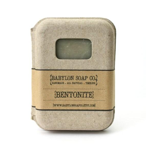 Rosemary Peppermint Handmade Soap: Bentonite Clay Soap . Peppermint Rosemary Soap . Natural Soap
