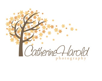 Premade Logo for Photographers Small Crafty Boutiques and Bloggers Autumn Windy Tree