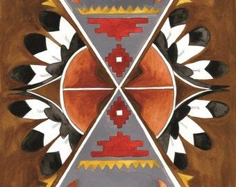 Shield of the Southwest Art Print: 8x10