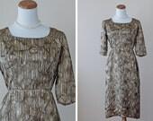 SALE 1950s Wiggle Dress / 50s Silk Dress // Martini Time