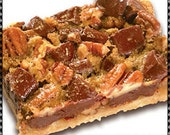 Amish Chunky Pecan Bars Recipe~~~Instant Download