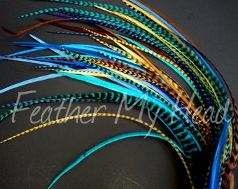 Whiting Grizzly Feather Extensions, Premium Extra Long Feathers