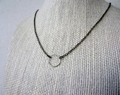 No 40 Minimalist Circle Infinity Necklace
