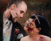 Zombie Couple Portrait and Bonus Jumbo Print