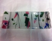 Sushi Plate, Colorful Fused Glass