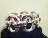 Silver Chain link inspired Flexi Bracelet