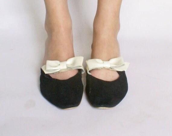 1950s Shoes Vintage Flats Retro 50s