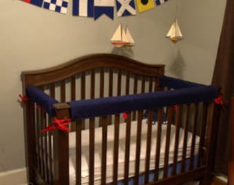 Crib Guards -- 3pc Custom Crib Rail Teething Guards for Baby/Toddler