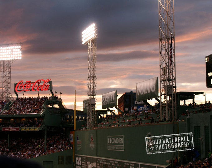 Fenway Park At Twilight, Green Monster, Boston Red Sox, Urban Landscape