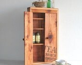Stenciled Tea - Spice Cabinet