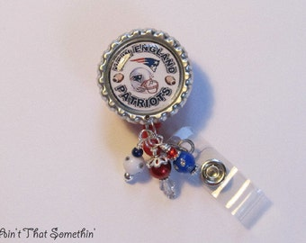 Patriots Inspired Retractable Badge Reel