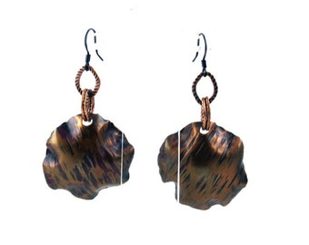 Stylish Dangle Metal Earrings. Original design and finishing. Lightweight. Ready  to ship.  Designed in Brand Faina studio.