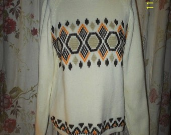 White 1960's sweater