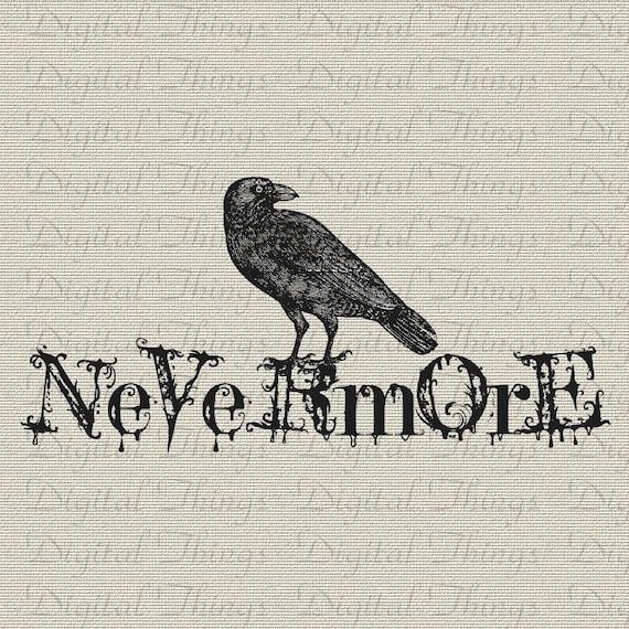 Connu Halloween Gothic Grunge Edgar Allan Poe The Raven Bird YQ17