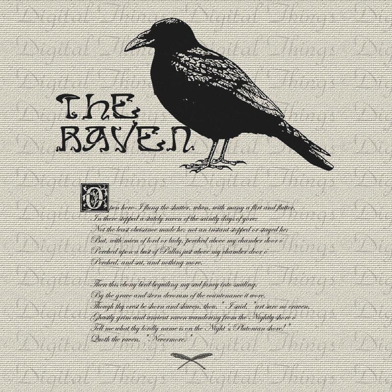 The raven poem | Etsy