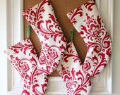 Red & Off-White Stocking - Set of 2 - Petite Christmas stocking, holiday decor, holiday for the home - adairya2