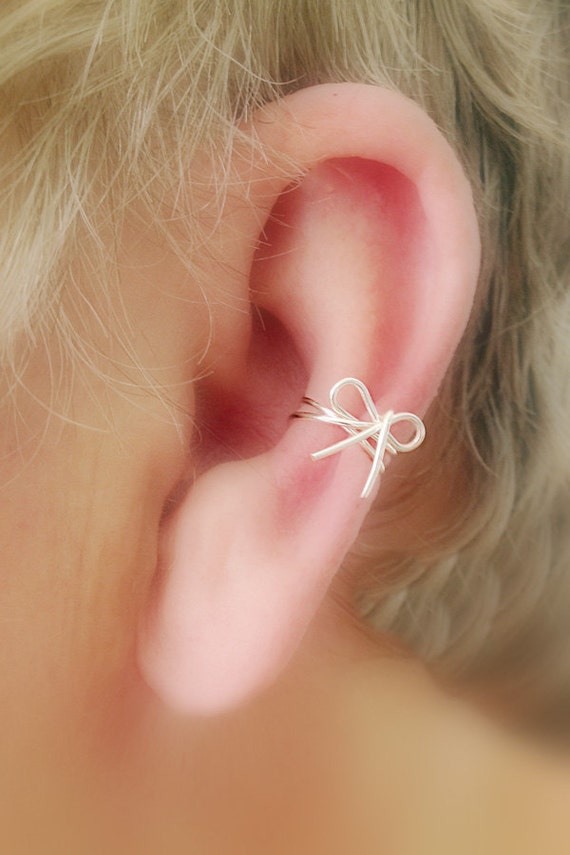 Ear Cuff/ Cartilage Cuff/ Dainty Bow Now Available In STERLING