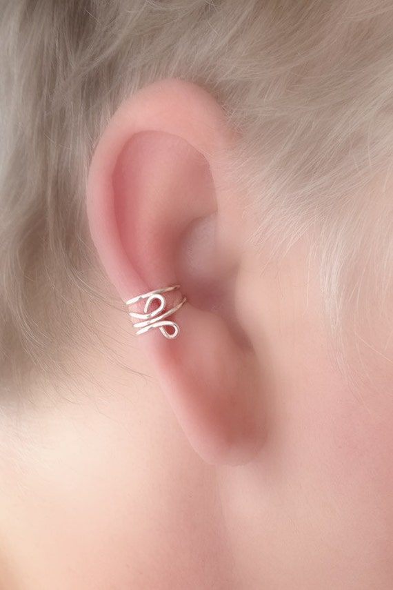 Ear Cuff Simple Everyday in STERLING SILVER Non Pierced