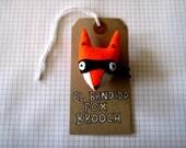 El Bandido Fox Felt Brooch