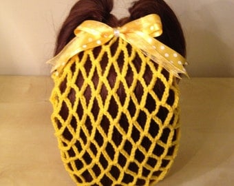 Yellow Vintage Crochet Snood