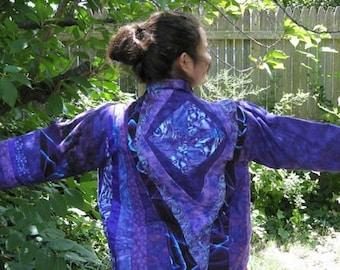 Purple Violet  Blue  Hip Length  Jacket