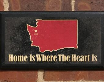 Washington WA Home Is Where The Heart Is v2